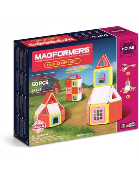 CONSTRUCCIÓN MAGFORMERS - BUILD UP HOUSE 50 PIEZAS